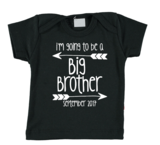 Baby T-shirt - I'm going to be a big brother - met maand van geboorte_