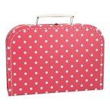 Koffertje 25 cm Roze stip_