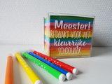 Memo kubus - Juf/Meester bedankt voor het kleurrijke schooljaar_