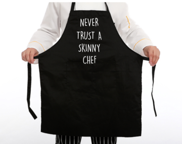 Schort - Never trust a skinny chef