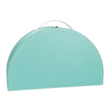 Koffertje halfrond - turquoise