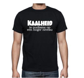 T-shirt - Kaalheid is nudisme op hoger niveau