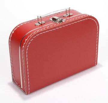 Koffertje 25 cm Rood