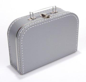 Koffertje 25 cm Zilver