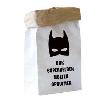 Paperbag XS - Ook superhelden moeten opruimen