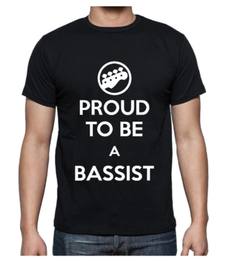 T-shirt - Proud to be a bassist