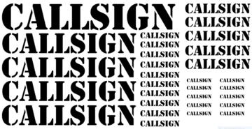 Callsign Stickers