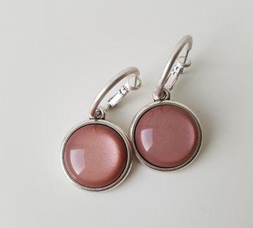 Hip & Chique oorbellen - oud roze glans - large - bol