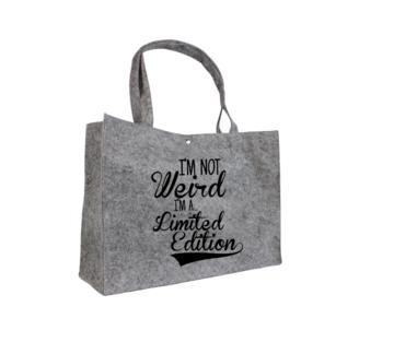 Tas - Vilt - I'm not weird I'm a limited edition