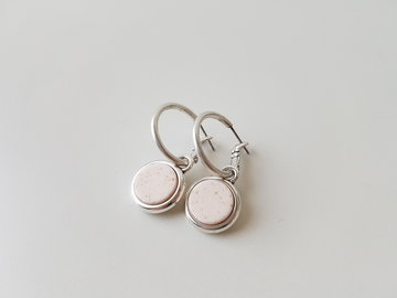 Hip & Chique oorbellen - lava steen pink champagne - small
