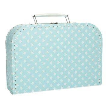 Koffertje 25 cm Ster lichtblauw