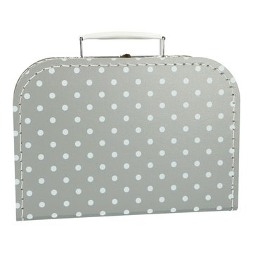 Koffertje 25 cm Stip grijs