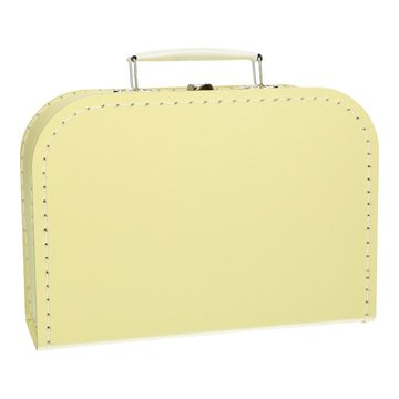 Koffertje 25 cm zachtgeel