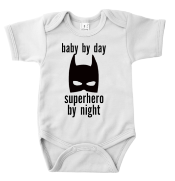 Romper - baby by day superhero by night