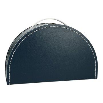 Koffertje halfrond - donkerblauw