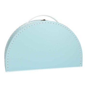 Koffertje halfrond - lichtblauw