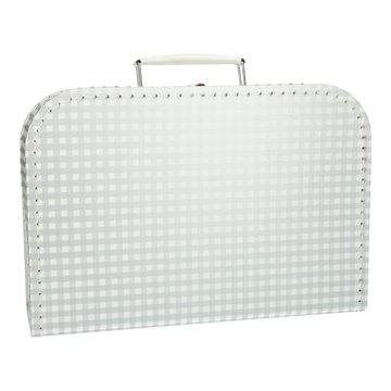 Koffertje 30 cm grijs geruit