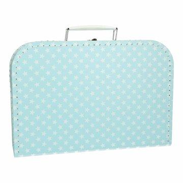 Koffertje 30 cm lichtblauw ster
