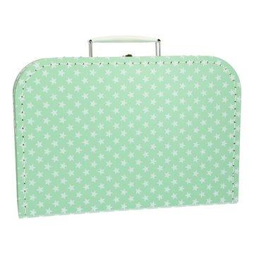 Koffertje 30 cm lichtroze ster