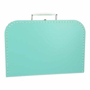 Koffertje 30 cm turquoise