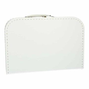 Koffertje 30 cm wit