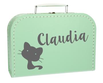 Koffertje met naam - Kat
