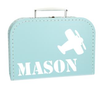 Koffertje met naam - Vliegtuig