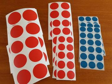 Set ronde stickers - ca. 125 stuks - stip - stippen