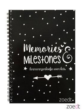 Memories en milestones - herinneringenboekje voor kids