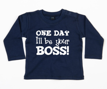 Shirt lange mouwen - One day I'll be your boss!