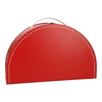 Koffertje halfrond - rood