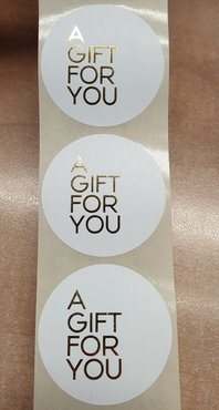 Sticker - A GIFT FOR YOU - goud - (5 stuks)