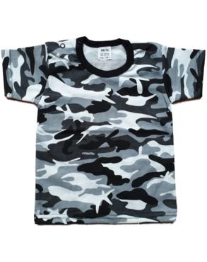 Shirt Korte Mouw - Army Grijs