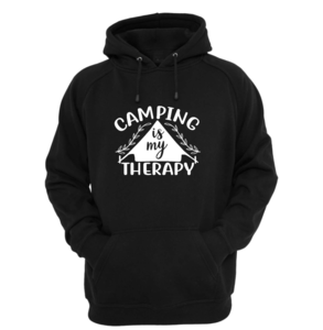 Hoodie - Camping is my therapy