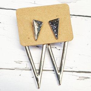 Oorbellen - Triangle dubbel
