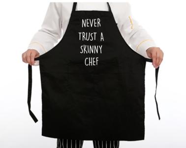 Schort - Never trust a skinny chef