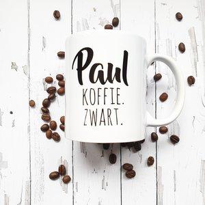 Beker Koffie - Naam & instructies