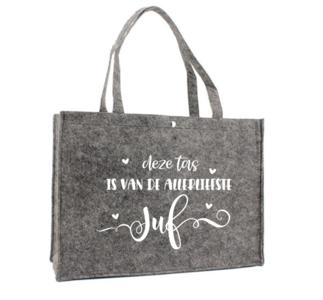 Tas - Vilt - deze tas is van de allerliefste juf