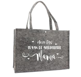Tas - Vilt - deze tas is van de allerliefste mama
