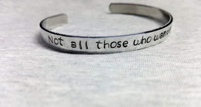Armband - Not all those who wander alre lost