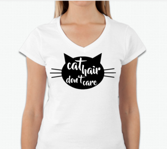 Vrouwen T-shirt - Cat hair don't care