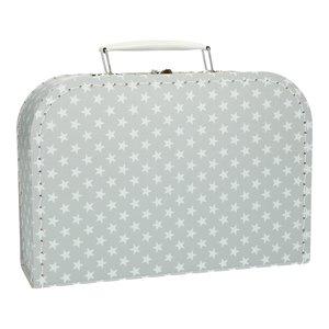 Koffertje 25 cm Ster grijs