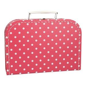 Koffertje 25 cm Roze stip