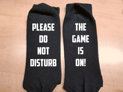 Sokken - please do not disturb - the game is on!