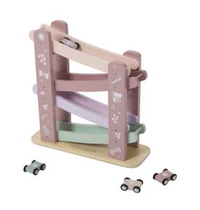Houten Autobaan - roze - Little Dutch