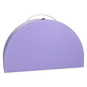 Koffertje halfrond - lila
